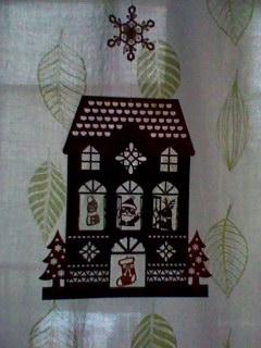 クリスマス切り絵
